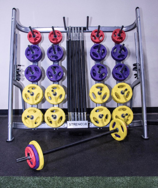 Cardio Pump Set - 20 Barbell Sets and Rack