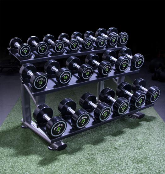 Strencor 3 Tier Dumbbell Rack with Saddles