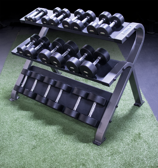 STRENCOR PLATINUM SERIES 3 TIER DUMBBELL RACK