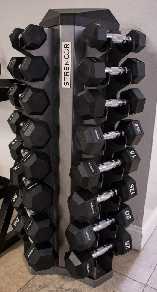 Strencor 8 pair Dumbbell Rack
